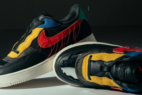 NIKE AIR FORCE 1 LOW BHM – DARK SMOKE GREY/TRACK RED Release Information (Model No.: CT5534-001)