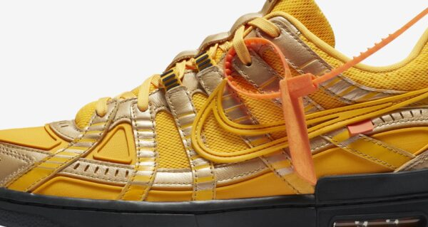 RUBBER DUNK x OFF-WHITE™️ UNIVERSITY GOLD Release Information (Model No.: CU6015-700)