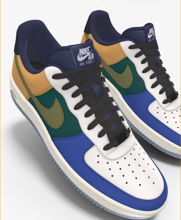 NIKE AIR FORCE 1 LOW BY YOU X HKR DESIGNED V7.11