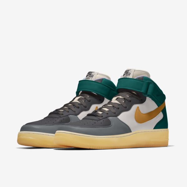 NIKE AIR FORCE 1 MID BY YOU X HKR & YJY DESIGNED V12.20